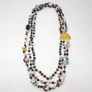 JLC Bijoux NA Multi Strand Beaded Necklace